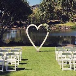 Love Heart Ceremony Arch