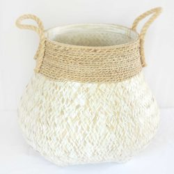 Two Tone Cane Basket