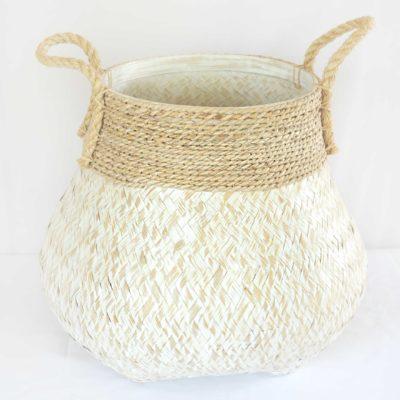 Two Tone Cane Basket