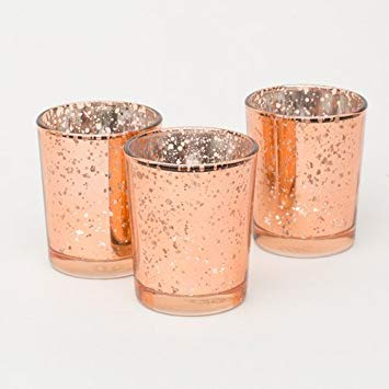rose gold tea light