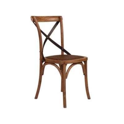 Cross back chair side