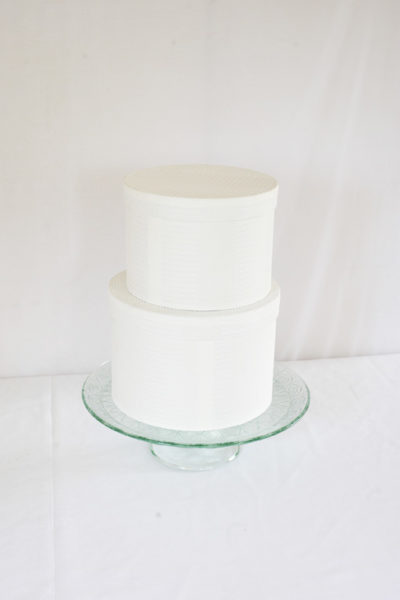 Cake on green cake stand