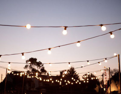 Festoon Lights in the afternoon