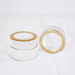 Gold Circle Rim Tea Light