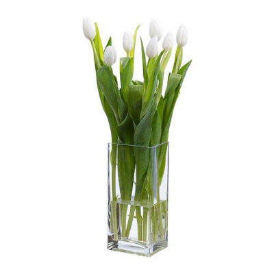 Rectangle Vase with flowers
