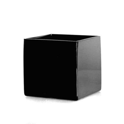 Square Black Cube Vase