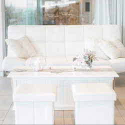 White cladding Coffee Table