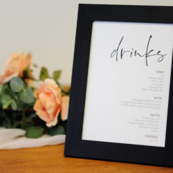 Black Drinks Frame