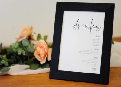 Black Drinks Frame