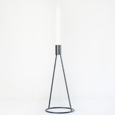 Black metal candlestick