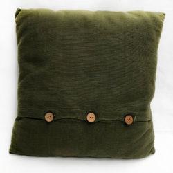 Green Button Cushion