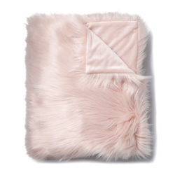 Pink Fluffly Throw