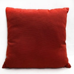Red Ribbed Cushion