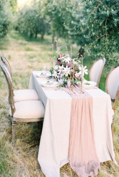 Rose Gold Cheesecloth