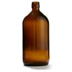 amber thin bottles