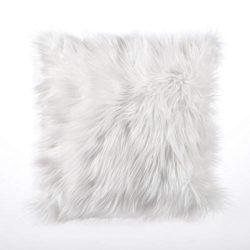 white Alpine Fur cushion