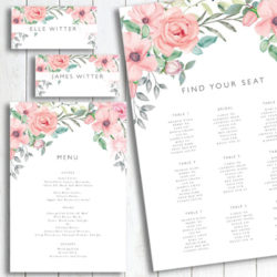 Flower stationery